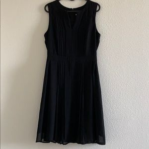 Halogen dress with pleated details